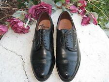 Allen Edmonds Sanford Cap Toe Dress Shoes Black leather men's 9 E very nice!