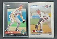 Lot of 2 Jim Thome RC pre-rookie Pinnacle & Line Drive NM-MT 20-2210B