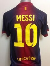 2012-13 Barcelona Messi #10 Home Jersey + Short Size L (Argentina)