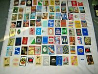 Assorted Lot of 96 Swap Cards Advertising Spirits Airline, Drinks,Transportation