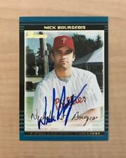NICK BOURGEOIS PHILADELPHIA PHILLIES SIGNED 2002 BOWMAN CARD #BDP24 W/COA