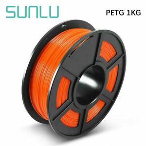 SUNLU 3D Printer Filament 1.75mm PETG - Orange 1kg/2.2 LB