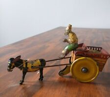 Antique Strauss Jenny the Balky Mule Windup Tin Toy c. 1920's