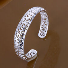 Fashion Accessories Classic Flower Women Cuff Bracelet FB144,925 Silver