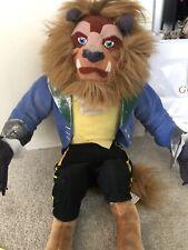Disney Beauty And The Beast Plush Beast Stuffed Animal Toy Doll 1992 Mattel