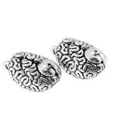 Anatomical Brain Beads Tibetan Silver Charms Pendant Fit DIY Bracelet 1pcs