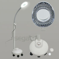 Segawe Floor Magnifier 5X Rolling Stand Magnifying Lamp LED Beauty Salon Facial
