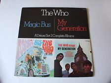 "THE WHO 2 ALBUM SET ""MAGIC BUS"" & ""MY GENERATION"" MCA2-4068 1980 VERY NICE !!!!!"