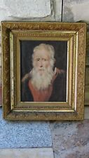 "ANTIQUE OIL ON CANVAS PAINTING OF ""PORTRAIT OF OLD PARR"" AFTER PETER PAUL RUBENS"