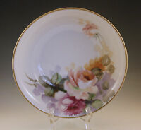 ANTIQUE NIPPON MORIMURA ROSES LARGE SERVING BOWL, HAND PAINTED, 9.1/2""