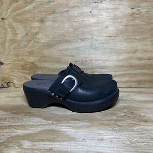 Crocs Cobbler Buckle Clogs Womens Size 9 Black Slip On Comfort Mule Shoes 15513