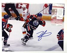TAYLOR HALL SIGNED EDMONTON OILERS 11x14 PHOTO JSA AUTHENTICATED