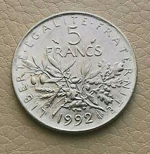N°9  - 5 Francs. 1992 Semeuse