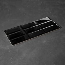 SAMPLE  £13.19/m2 Super Black Metro Brick High Gloss 60X30 Ceramic Wall Tiles