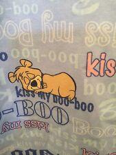 Kiss My Boo-Boo Bear WOMENS NURSE SCRUB TOP MEDIUM HANNA BARBERA