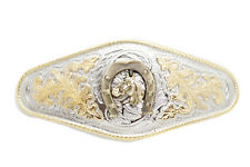 Fashion 3D Gold Rodeo Horse Horseshoe Men Silver Metal Buckle Western Cowboys