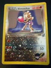 Pokemon Inglese Promo Rocket's Hitmonchan Best Winner n. 9 Holo Reverse - Damage