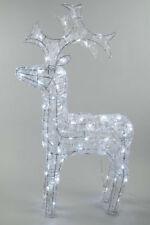 Kaemingk Navidad Reno Acrílico interior al aire libre del LED 120 Cm-Blanco frío