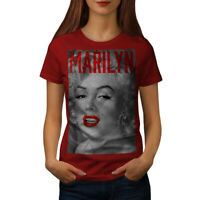 Wellcoda Marilyn Retro Photo Womens T-shirt, Urban Casual Design Printed Tee