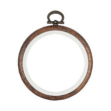 Embroidery Flexi Hoop CrossStitch Sewing Round Plastic Frame Free Postage 3 inch