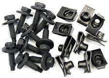 "Ford Body Bolts & U-nut Clips- 5/16-18 x 1-3/16"" Long- 1/2"" Hex- 20 pcs- #375"