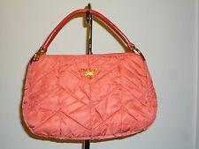 REDUCED $200  Authentic Quilted Prada Orange Coral Handbag Dustbag & Auth Cards
