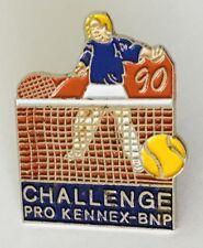 Challenge Pro Kennex BNP 1990 Tennis Advertising Pin Badge Vintage (C17)