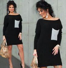 Vestiti da donna a manica lunga nera con extracorto, micro mini