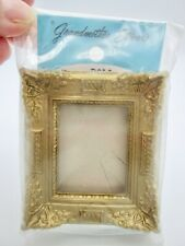 Vtg Grandmother Stovers Miniature Dollhouse Gold Picture Frame Large Wall Fancy
