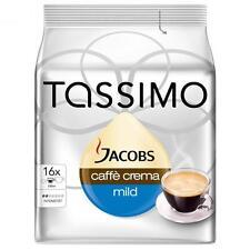 Tassimo Jacobs Caffè Crema Mild, Kaffee, Kapsel, Röstkaffee, 16 T-Discs
