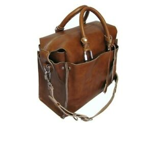 Amerileather Holmes Investigator Briefcase/Tote Rusty Brown 2711-2 Quality, Nice