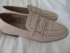 MISS KG PALE PINK FLAT LOAFER STYLE SHOE WITH STUD DETAIL SIZE UK 5 EU 38 NARROW