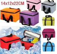 Insulated Thermal Cooler Bags Lunch Time Sandwich Drink Cool Storage Chilled Zip