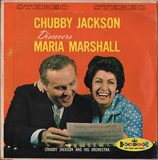 "CHUBBY JACKSON ""DISCOVERS MARIA MARSHALL"" JIVIN' VOCAL JAZZ 50'S LP VINYL ROUGE"