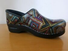 Dansko Professional Color Maze Patent Women's Clogs - NEW - Size EU 40