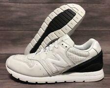 New Balance 996 Classic Sneakers Men's Size 8 White Black MRL996KS Retro 90's