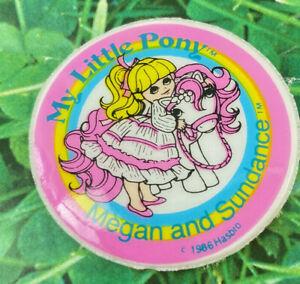 My Little Pony G1 Puffy Sticker Megan and Sundance Vintage Toy Hasbro 1980s