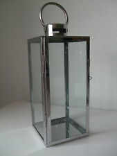 Windlicht Kerzenhalter modern schlicht silber
