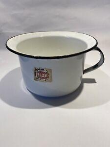 Vintage Lisk Enamelware Chamber Pot w/ Handle
