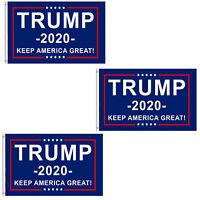 3-Pack Trump 2020 Flag Keep America Great President Donald Trump 3x5 Ft Flag USA