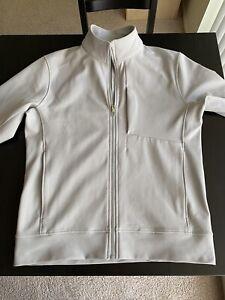lululemon sojourn jacket light gray medium