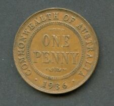 AUSTRALIA 1936  LARGE PENNY HAVE FUN BIDDING AND GRADING  AS SHOWN