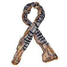 Fendi Schal Scarf 100% Seide Silk Zebrastreifen Zebra Print Made Italy HERBST