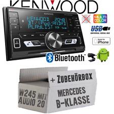Kenwood Autoradio für Mercedes B-Klasse W245 Audio 20 Bluetooth USB Einbauset