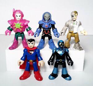 Imaginext DC Super Friends Lot of 5 Darkseid Superman Lex Luthor Metallo Figures