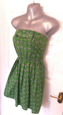 ❤ REKO for TOPSHOP Gorgeous Size 8 Green Bandeau Tennis Print Dress Quirky