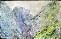 Juan ESPINA y CAPO ( dans les collections du Prado ), paysage de haute montagne