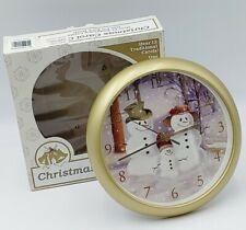Feldstein Snow Man Family Christmas Carol Song Clock Parts Only Not Singing