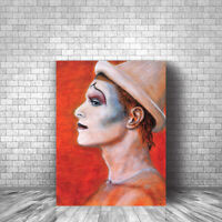 David Bowie Ashes to Ashes Original Art Canvas Print