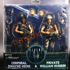 "NECA Aliens Colonial Marines Hicks & Hudson 2 Pack 7"" Action Figure 30th New"